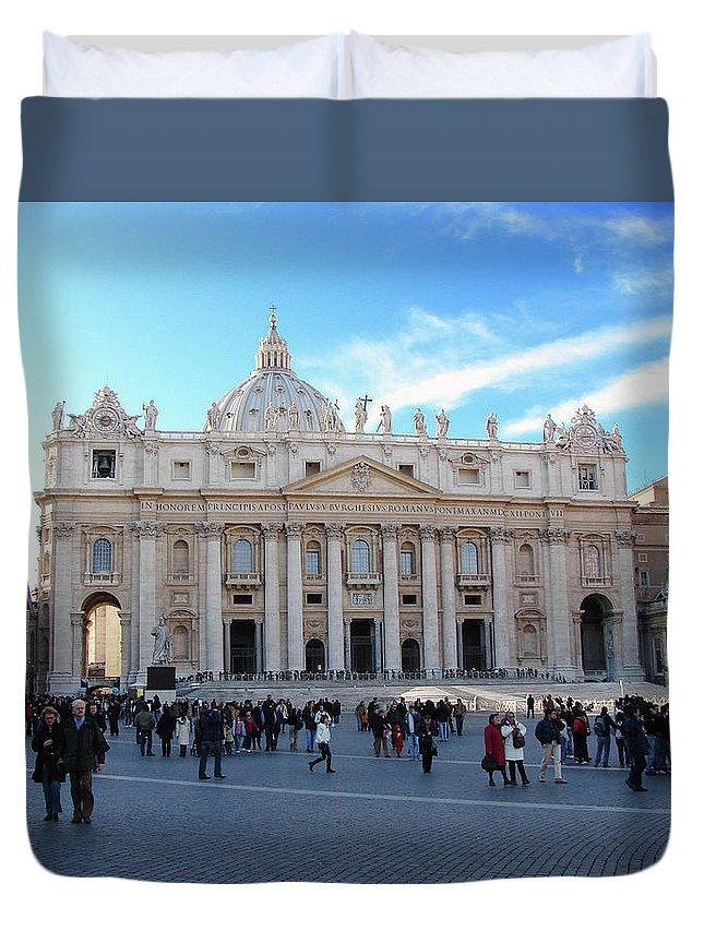 Vatican Duvet Cover featuring the photograph The Vatican by Brett Winn