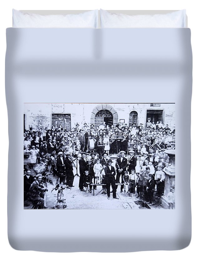 Tuscany Duvet Cover featuring the photograph The Village Band by Kurt Hausmann