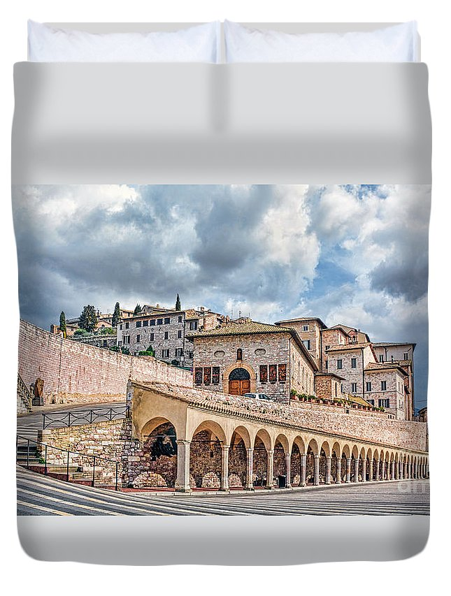 Assisi Duvet Cover featuring the photograph The Village Of St. Francis Of Assisi by Maggie Magee Molino