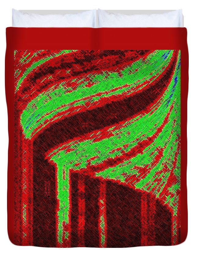 Abstract Duvet Cover featuring the digital art The Village by Will Borden