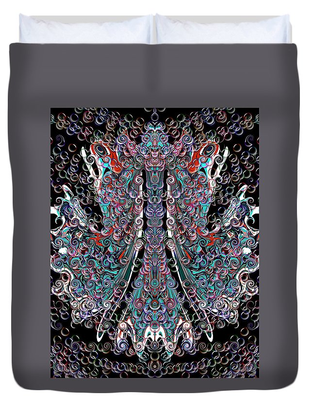 Duvet Cover featuring the digital art The Visit by Subbora Jackson