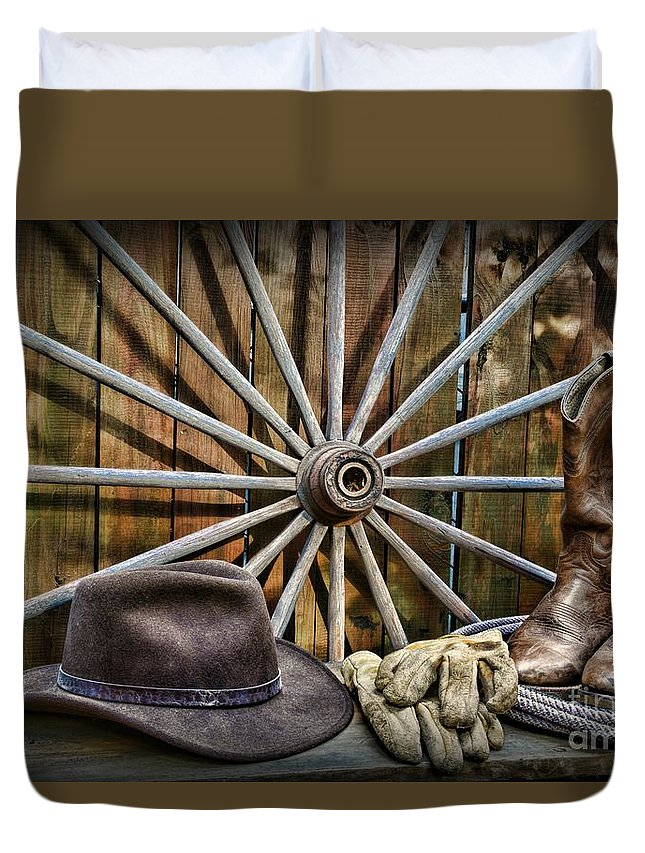 Paul Ward Duvet Cover featuring the photograph The Wagon Master by Paul Ward