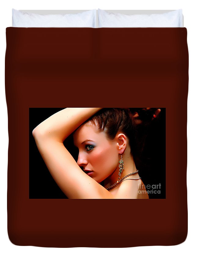 Clay Duvet Cover featuring the photograph The Watcher Vii by Clayton Bruster