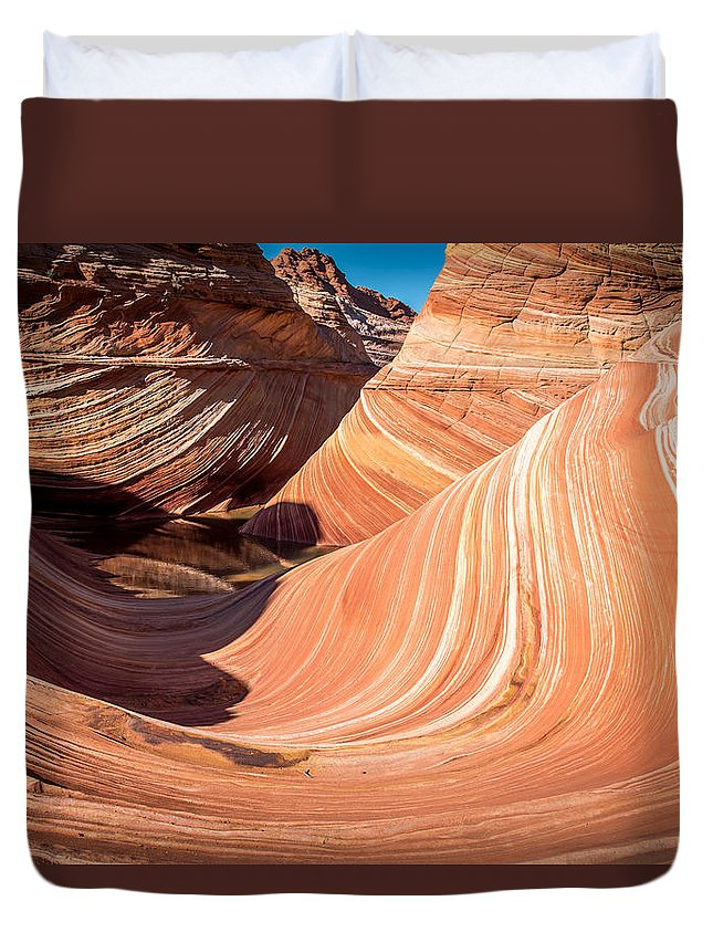 Duvet Cover featuring the photograph The Wave by Don Piper