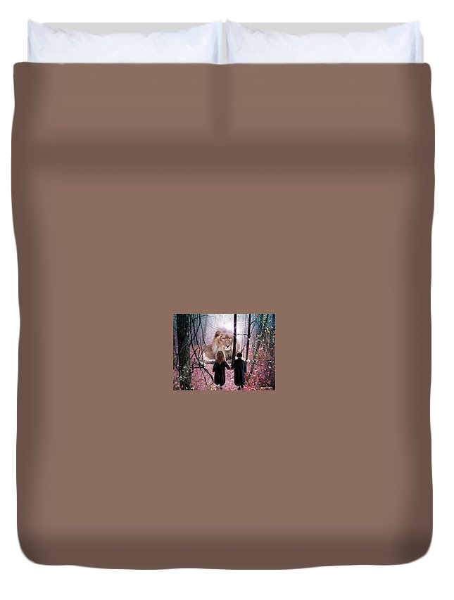 Children Duvet Cover featuring the digital art The Way by Bill Stephens
