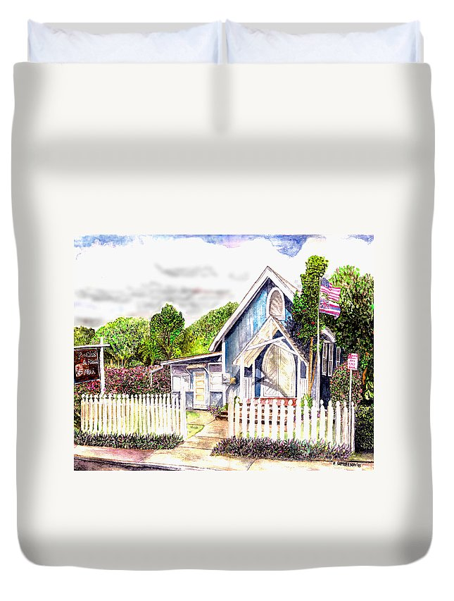 Ywam Maui Duvet Cover featuring the painting The Way Inn by Eric Samuelson