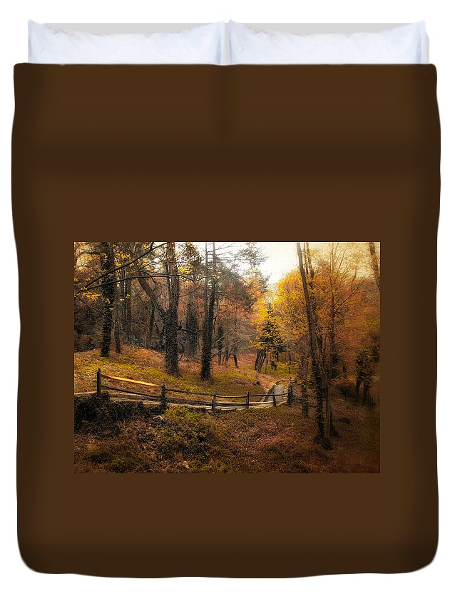 Landscape Duvet Cover featuring the photograph The Way by Jessica Jenney