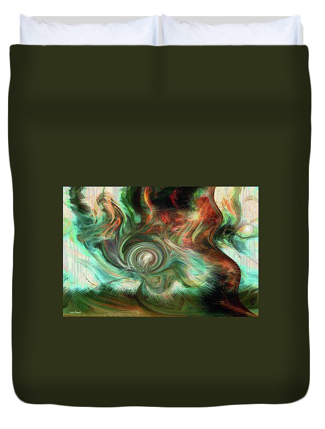 Wind Blows Duvet Cover featuring the digital art The Way The Wind Blows by Linda Sannuti