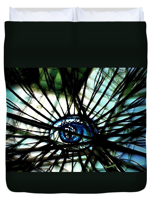 Abstract Duvet Cover featuring the photograph The Web by Marysue Ryan