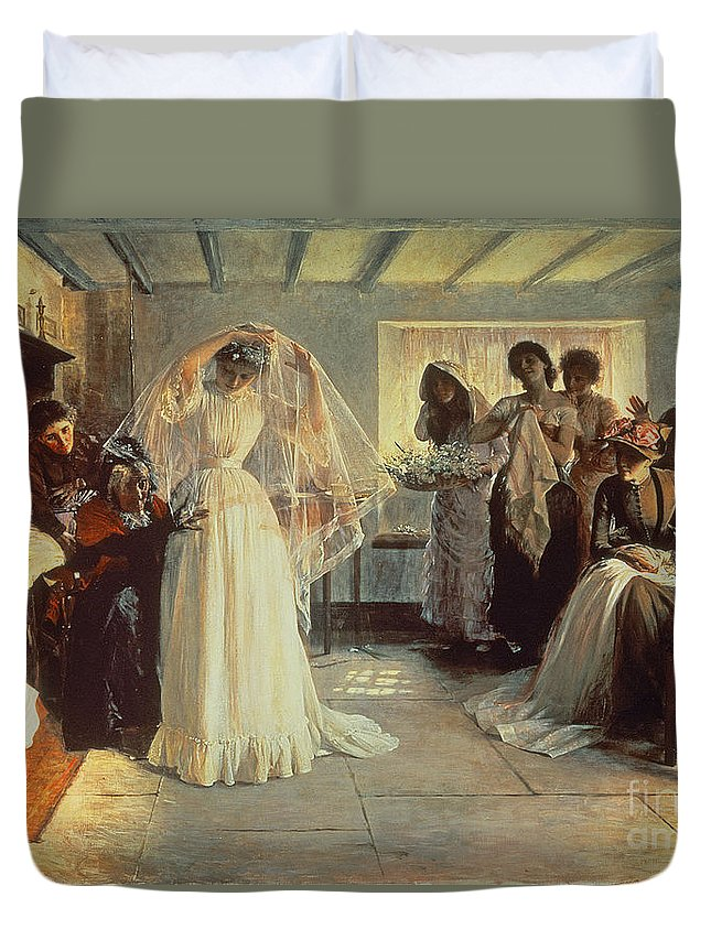 Wedding Morning Duvet Cover featuring the painting The Wedding Morning by John Henry Frederick Bacon