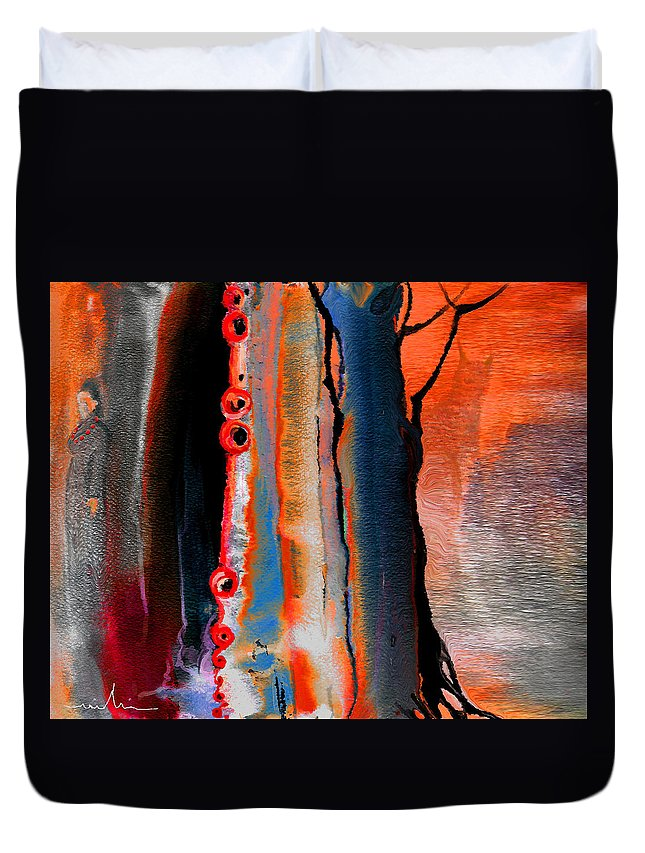 Fantasy Painting Duvet Cover featuring the painting The Werewolf by Miki De Goodaboom