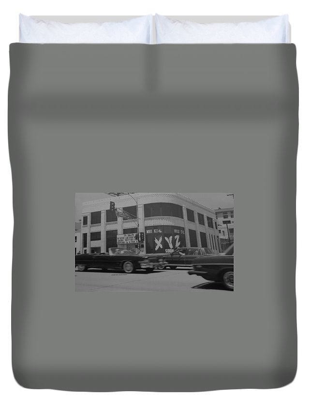 Black And White Duvet Cover featuring the photograph The Whiskey In Black And White by Rob Hans