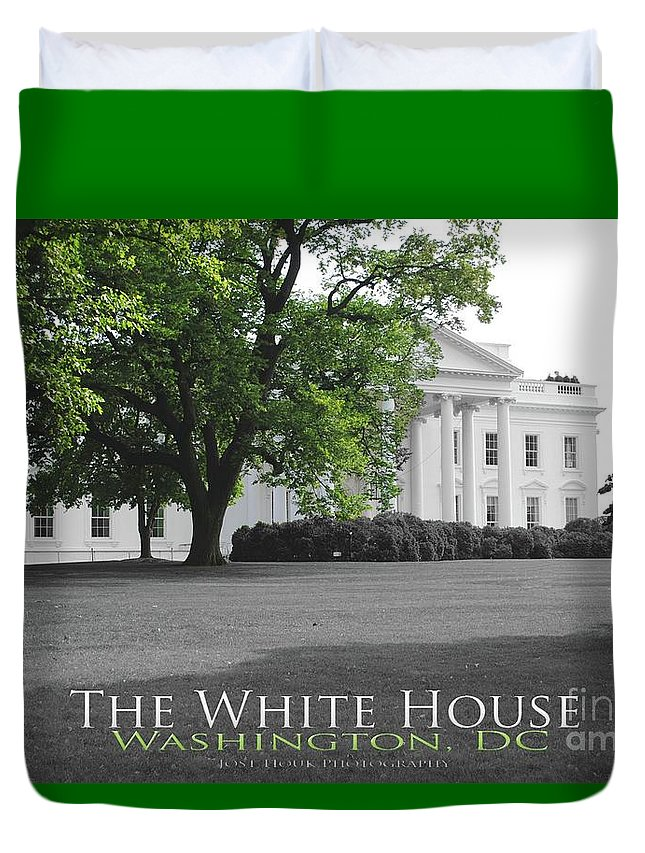 White House Duvet Cover featuring the photograph The White House by Jost Houk