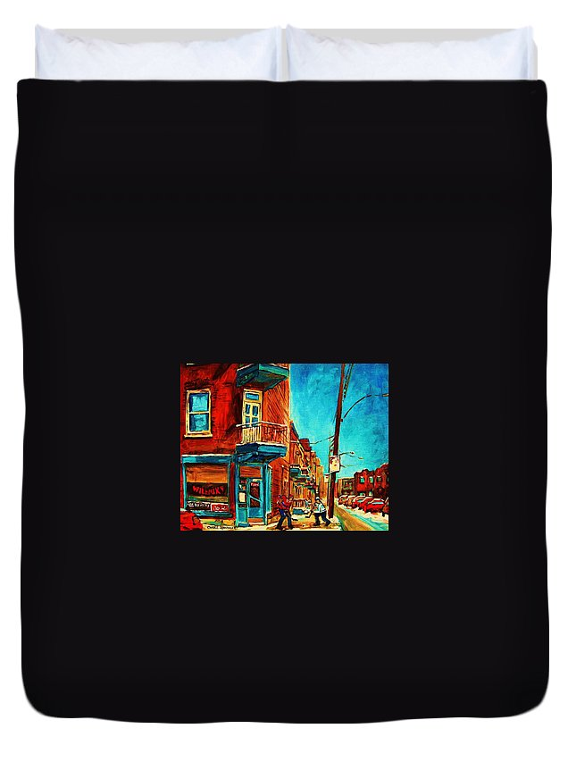 Wilenskys Doorway Duvet Cover featuring the painting The Wilensky Doorway by Carole Spandau
