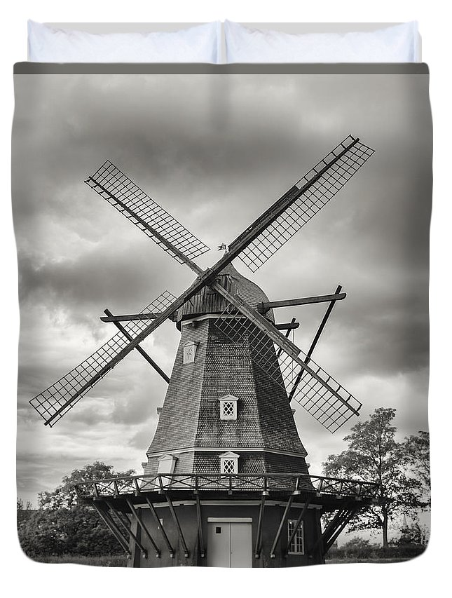 Windmill Duvet Cover featuring the photograph The Windmill At Kastellet by Andrew Rich
