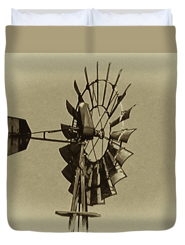 Wind Duvet Cover featuring the photograph The Windmills Of My Mind by Bill Cannon