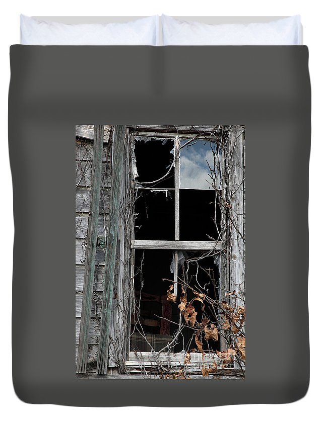 Windows Duvet Cover featuring the photograph The Window by Amanda Barcon