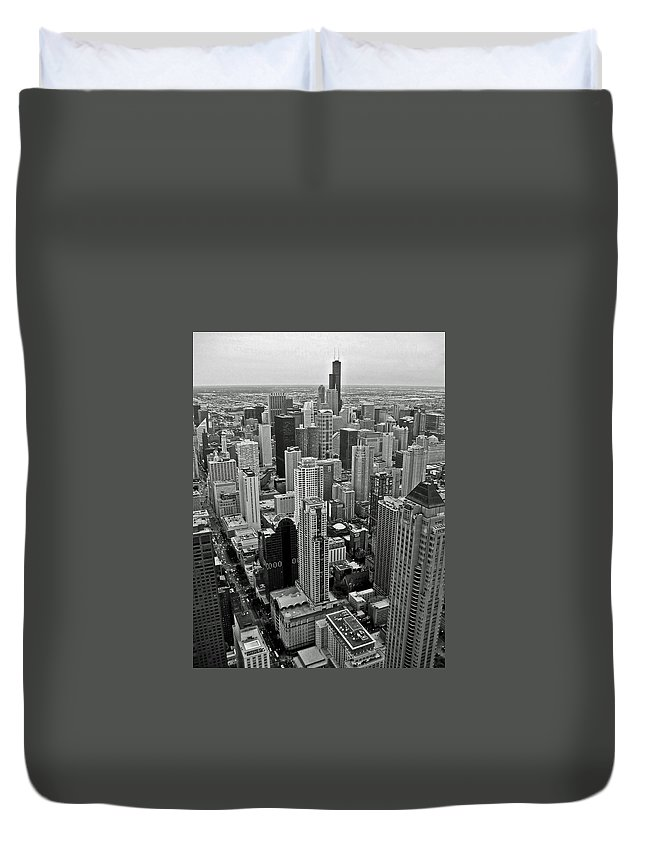 Architecture Duvet Cover featuring the photograph the Windy City by Dale Chapel