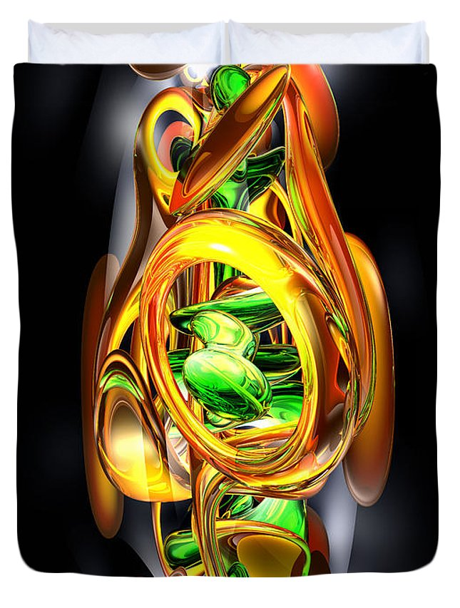 3d Duvet Cover featuring the digital art The Wraith Abstract by Alexander Butler