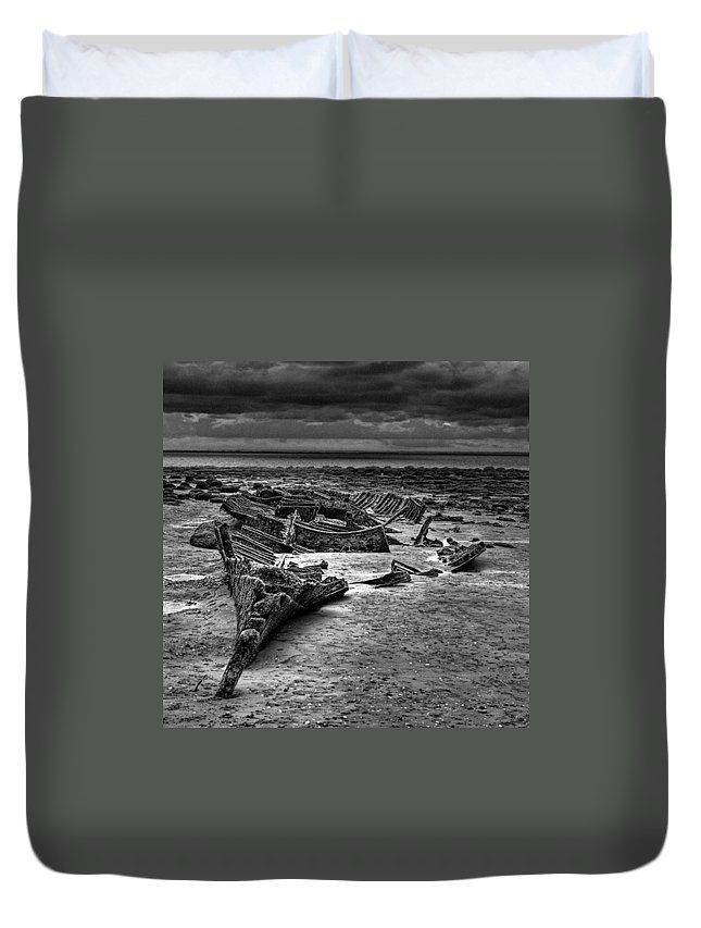 Trawler Duvet Cover featuring the photograph The Wreck Of The Steam Trawler by John Edwards