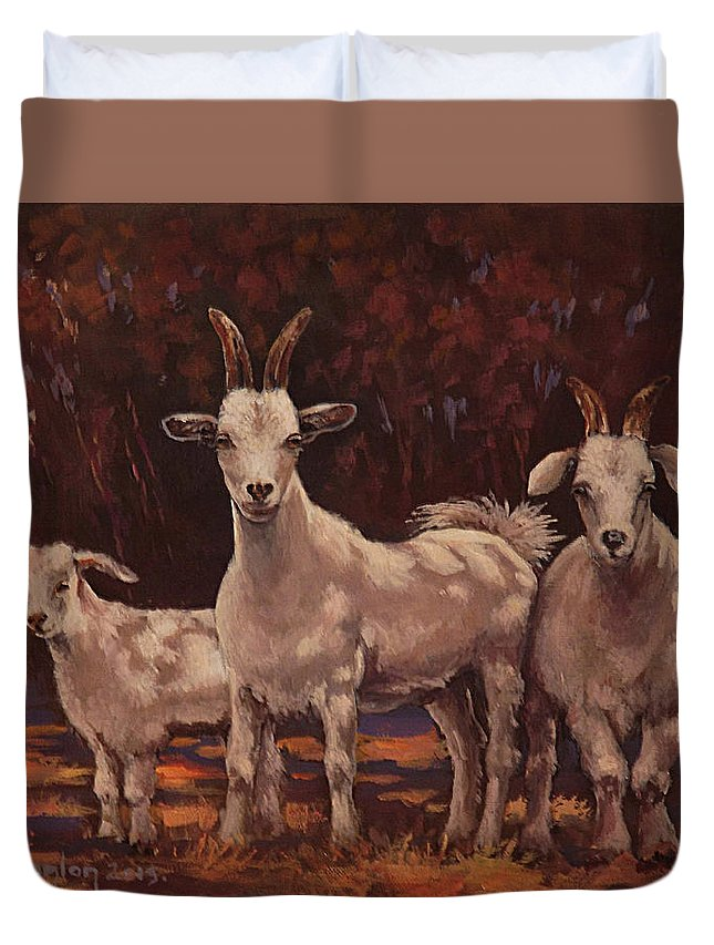 Animals Duvet Cover featuring the painting The Year Of The Sundance Kid by Sean Conlon