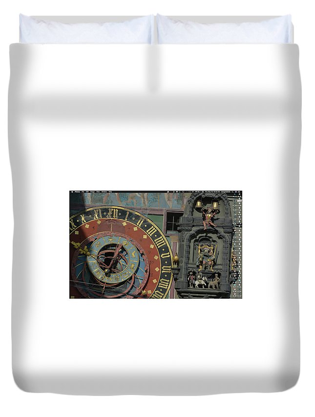 Zytglogge Duvet Cover featuring the photograph The Zytglogge by Luke Golobitsh