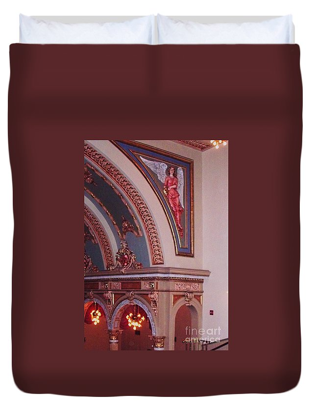 Theater Duvet Cover featuring the photograph Theater by Eric Schiabor