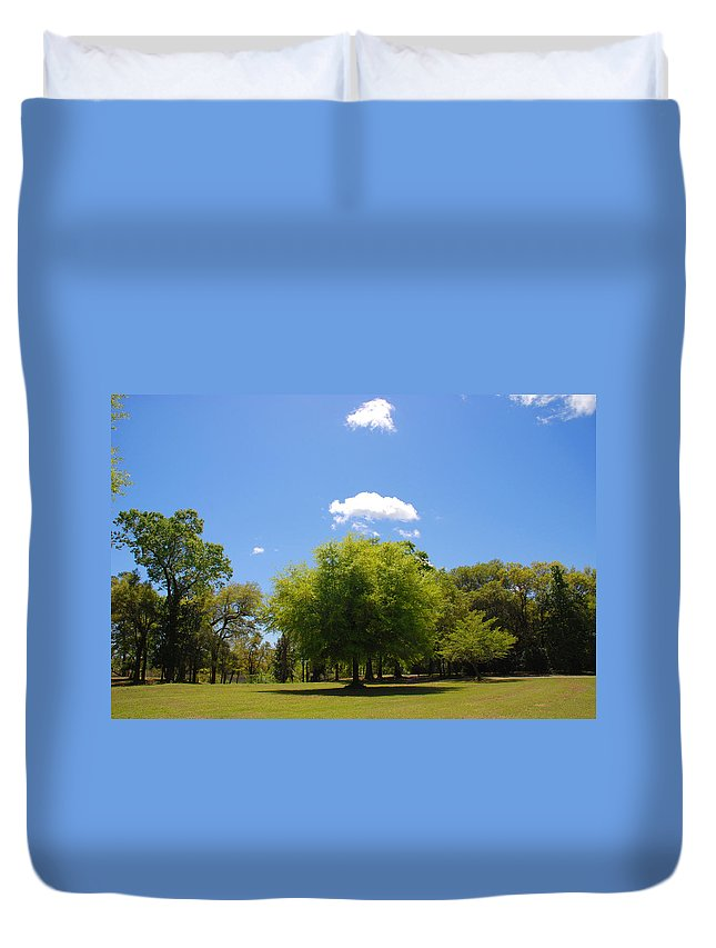 Photography Duvet Cover featuring the photograph There Are Some Clouds by Susanne Van Hulst
