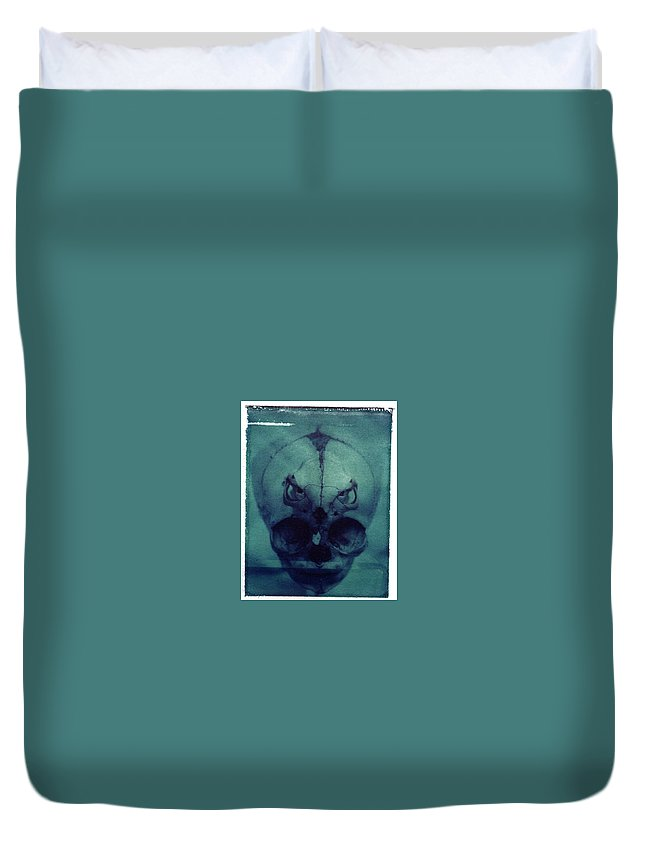 Skull Duvet Cover featuring the photograph There by Jane Linders