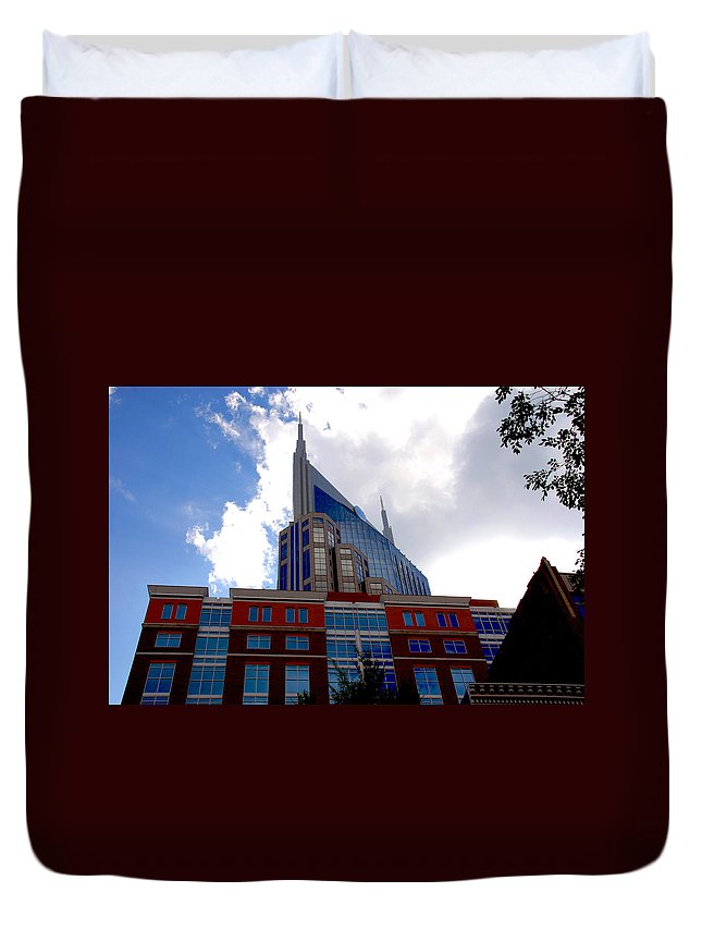 Nashville Duvet Cover featuring the photograph There Where Modern And Old Architecture Meet by Susanne Van Hulst
