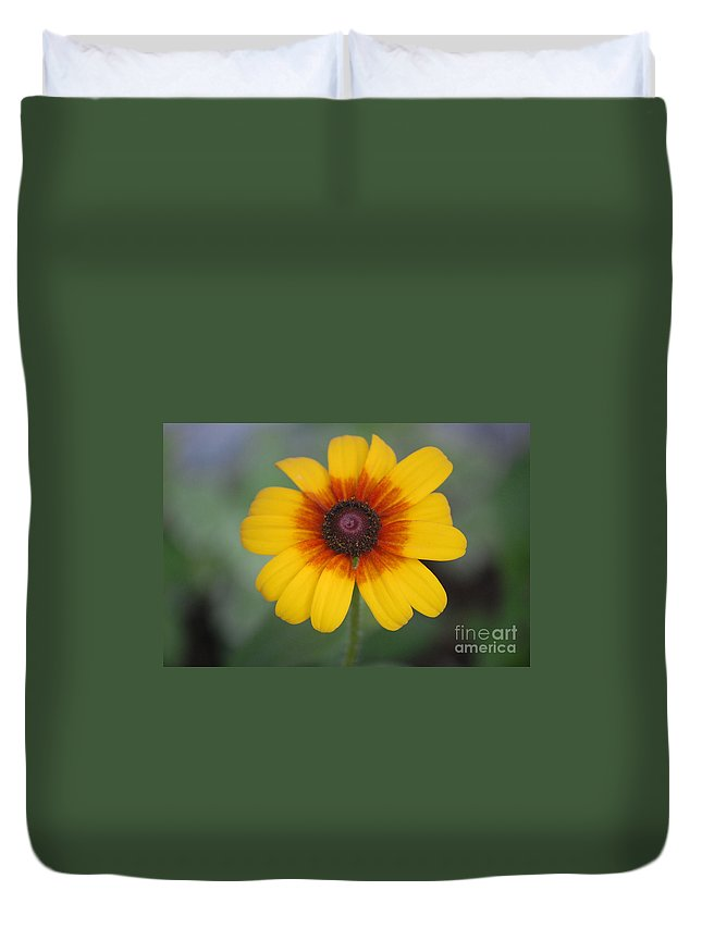 Landscape Duvet Cover featuring the photograph They Call Me Mellow Yellow. by David Lane