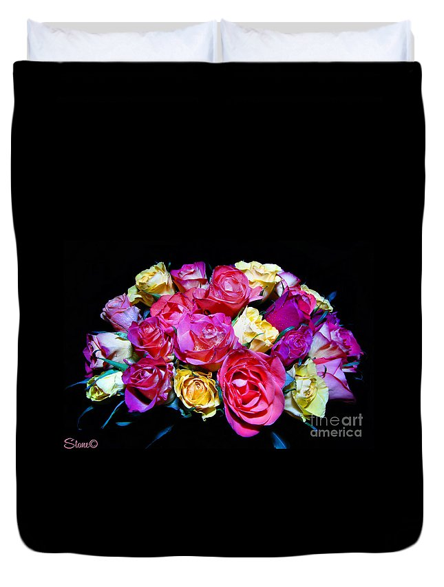 Roses Duvet Cover featuring the photograph Thirty Six 2 by September Stone