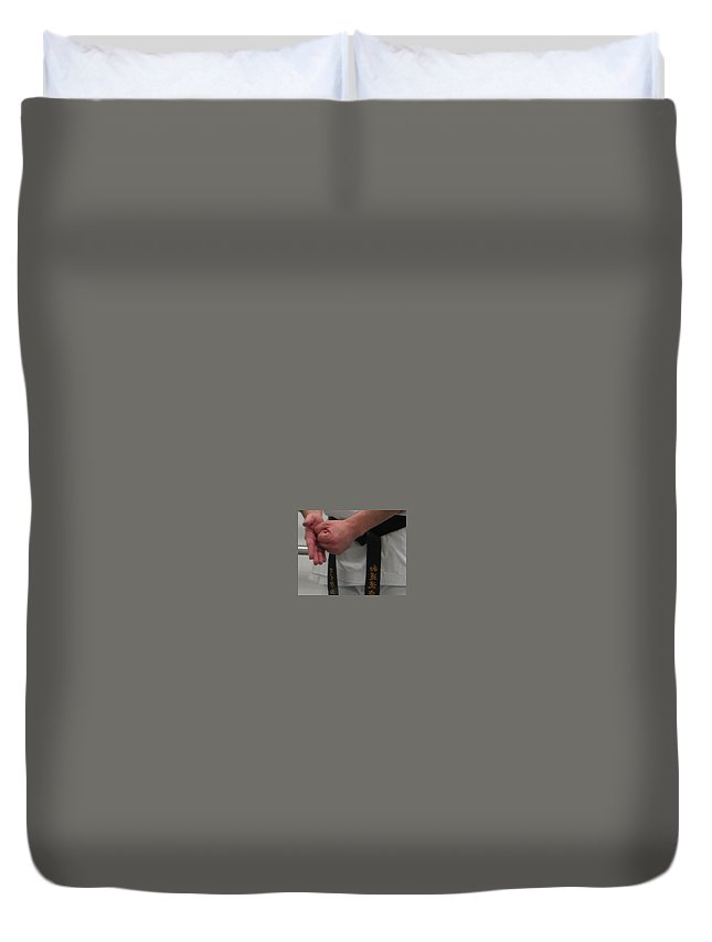 Karate Duvet Cover featuring the photograph This Is How by Kelly Mezzapelle