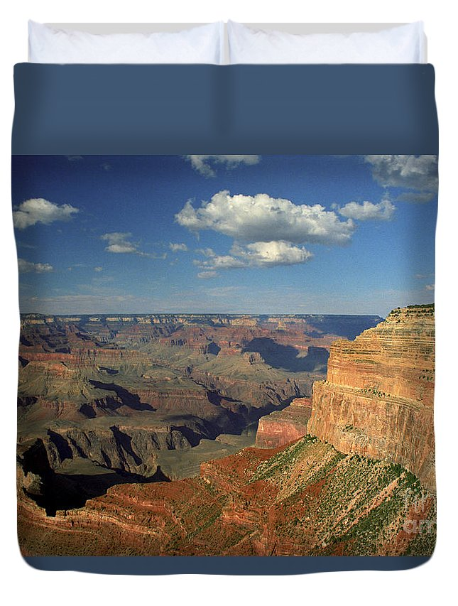 Grand Canyon Duvet Cover featuring the photograph This Is My Father's World by Kathy McClure