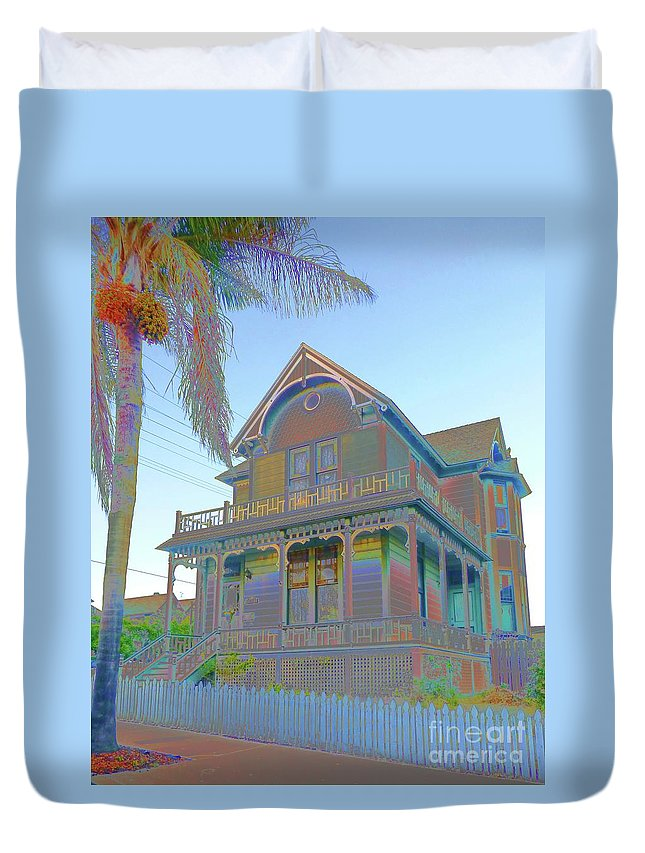 Old House Duvet Cover featuring the photograph This Old House Fantasy by Barbie Corbett-Newmin
