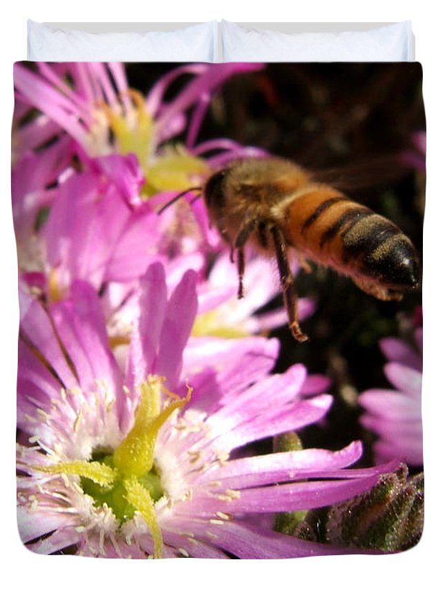 Bee Duvet Cover featuring the photograph This Will Do by Chris Brannen