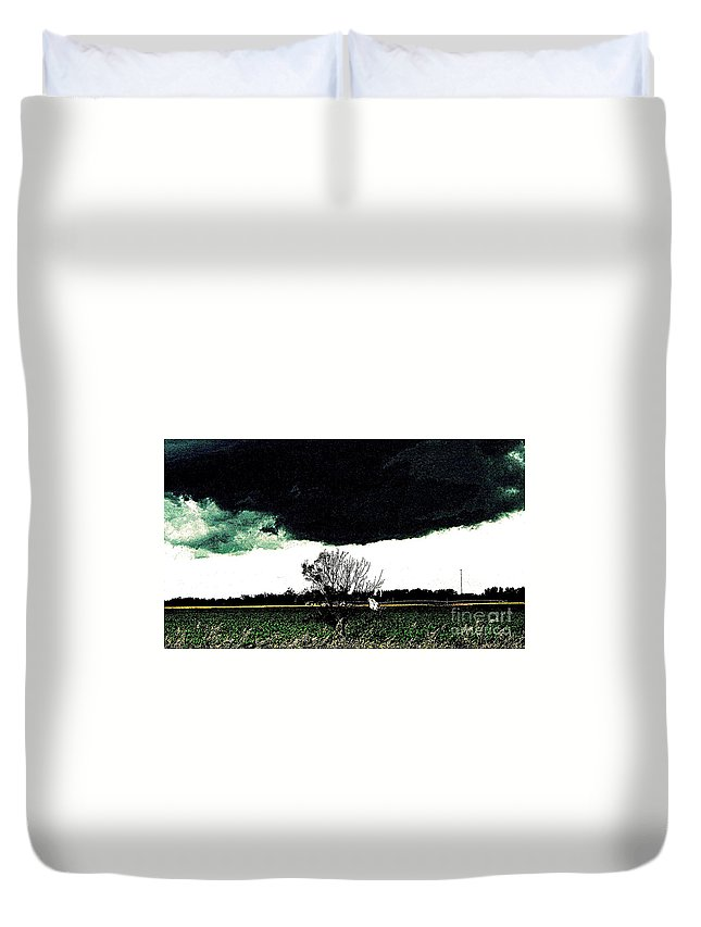 Clouds Duvet Cover featuring the photograph This Darkness Is But For A Time by Curtis Tilleraas