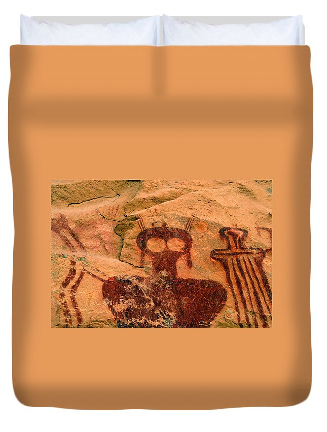 Shaman Duvet Cover featuring the photograph Thompsons Spring Shaman by David Lee Thompson