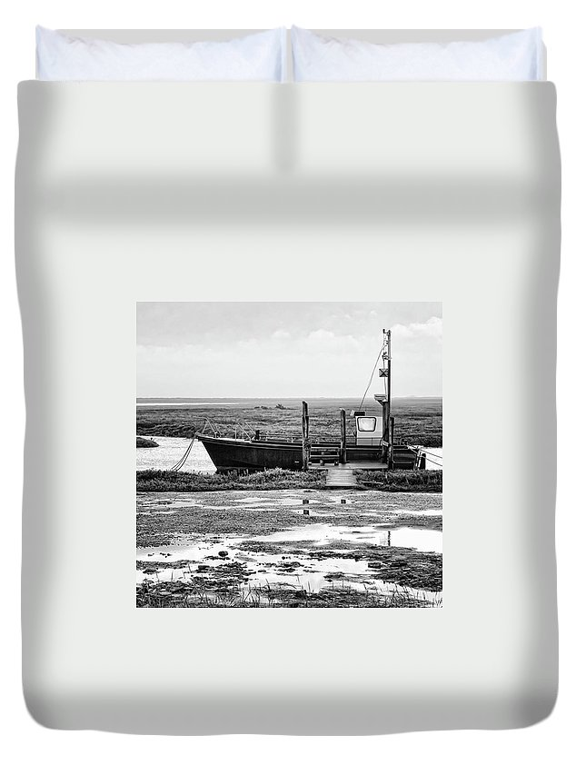 Amazing Duvet Cover featuring the photograph Thornham Harbour, North Norfolk by John Edwards