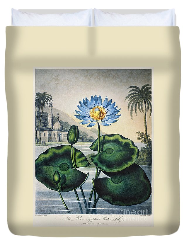 1804 Duvet Cover featuring the photograph Thornton: Water Lily by Granger