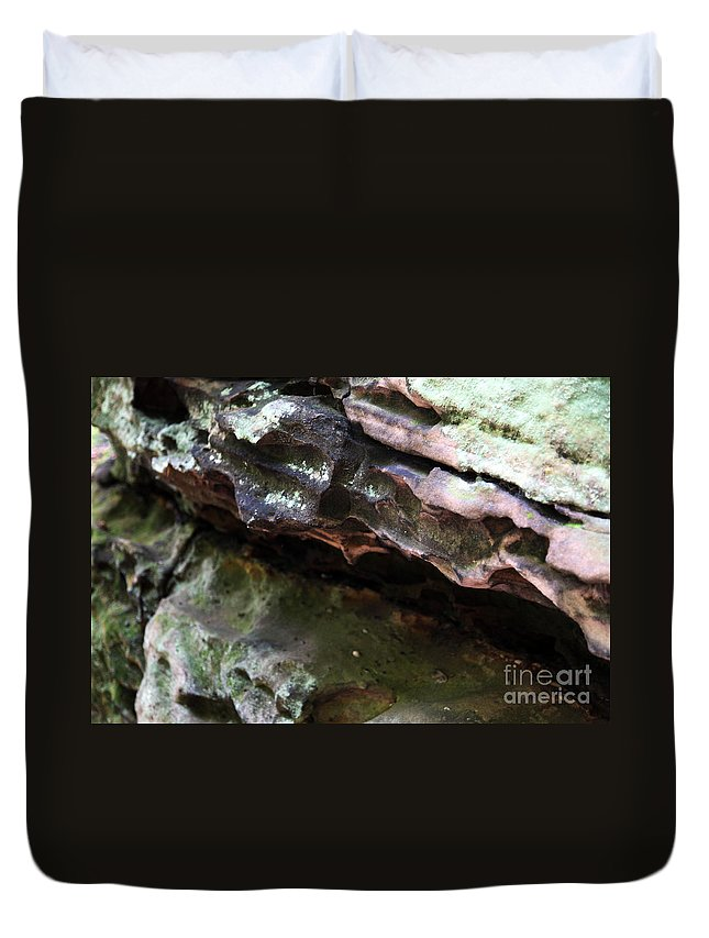 Mountainous Duvet Cover featuring the photograph Thoughts by Amanda Barcon