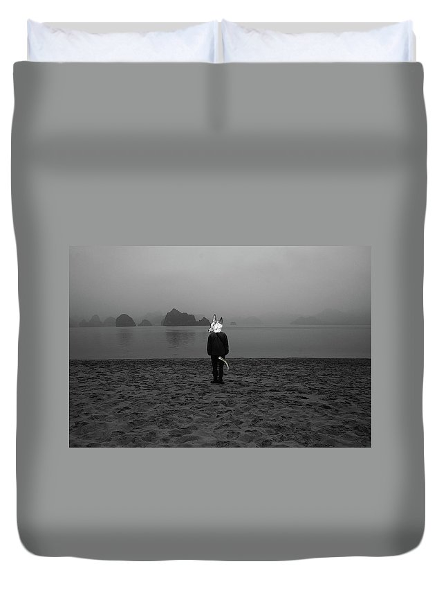 Streetphotography Duvet Cover featuring the digital art Thoughts by MIke Millar