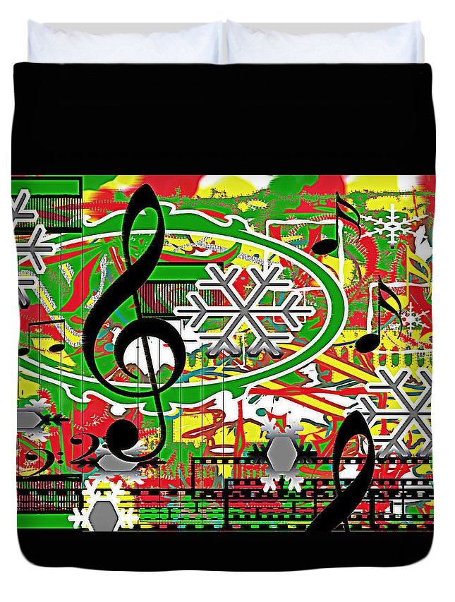 Music Duvet Cover featuring the digital art Thoughts Of Christmas by April Cook