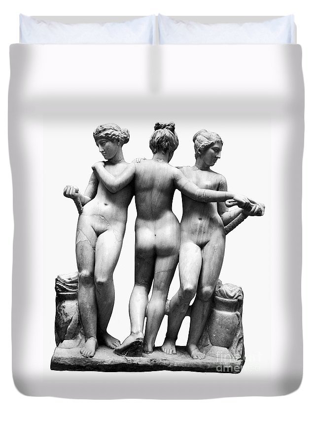 3rd Century B. C. Duvet Cover featuring the painting Three Graces by Granger