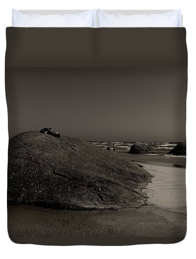 Three Granites Duvet Cover featuring the photograph Three Granites by Win Naing