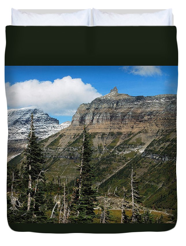 Glacier Duvet Cover featuring the photograph Three Kings by Michael Peychich