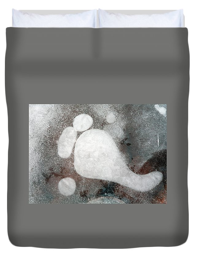 Ice Duvet Cover featuring the photograph Three Toes by Mike Dawson