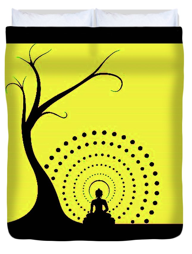 Buddhism Duvet Cover featuring the photograph Through The Eye Of Buddhism by Mohd Ifteekhar