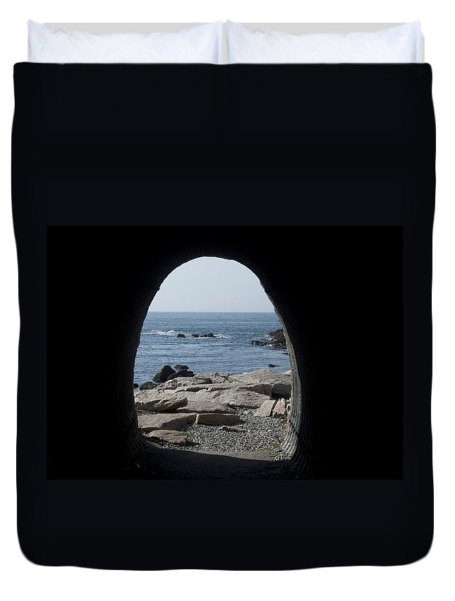 Tunnel Duvet Cover featuring the photograph Through The Tunnel by Steven Natanson