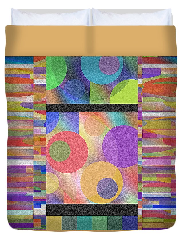 Abstract Duvet Cover featuring the digital art Through Thick And Thin by Ruth Palmer